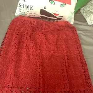 Anthropologie Lace Skirt, XL -NWT